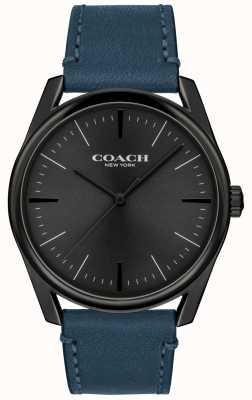 Coach | montre de luxe moderne pour hommes | bracelet en cuir bleu | 14602399