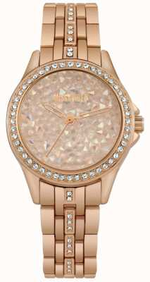 Missguided | montre femme | or rose | cadran en pierre rose doré | MG013RGM