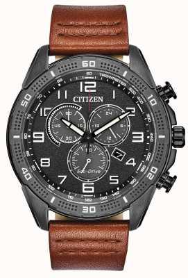 Citizen Action Eco-drive requise Cadran gris pour homme cuir wr100 AT2447-01E