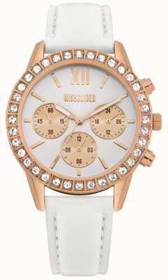 Missguided | bracelet en cuir blanc pour femme | cadran blanc | chronographe MG015WRG