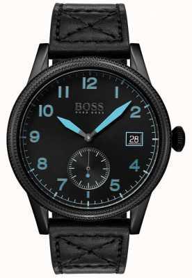 Boss | mens black legacy | acier inoxydable noir | 1513672