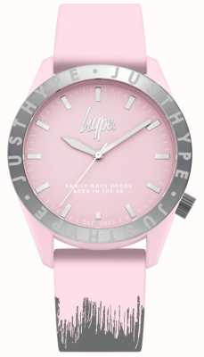 Hype | bracelet en silicone rose / gris pour femme | cadran rose | HYL008PS