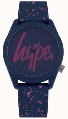 Hype | Bracelet en silicone pour femmes, peinture pourpre marine | cadran marine / violet HYL001UP