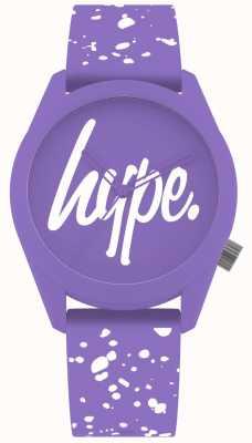 Hype | bracelet en silicone violet et blanc pour femme | cadran violet | HYL001VW