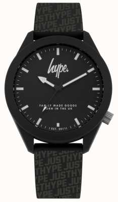 Hype | mens noir hype impression silicone | cadran noir | HYG017B