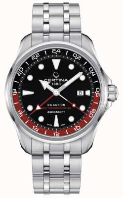 Certina | ds action | bracelet en acier inoxydable | cadran noir | C0324291105100