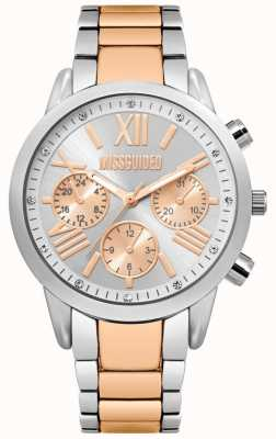 Missguided | montre femme | bracelet en acier inoxydable bicolore | MG008SRM