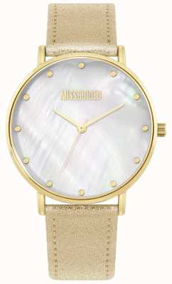 Missguided | bracelet en cuir dames doré | MG014GG