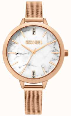 Missguided | montre dames rose maille d'or | MG011RGM