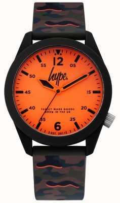 Hype | bracelet en silicone camouflage pour hommes | cadran orange | HYG019NO
