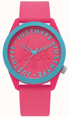 Hype | montre femme | bracelet en silicone rose vif | HYL023P