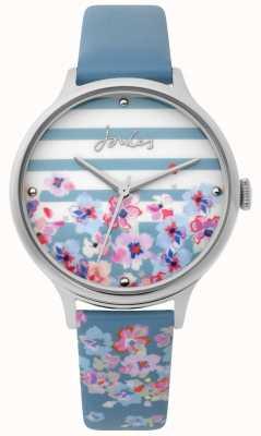 Joules | montre femme | bracelet imprimé bleu pâle à fleurs | JSL015US