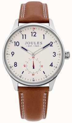Joules | montre de herse mens | bracelet en cuir beige | JSG008T