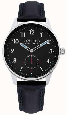 Joules | montre de herse mens | bracelet en cuir noir | JSG008B