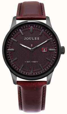 Joules | montre mens marfield | bracelet en cuir marron | cadran marron | JSG009BRB