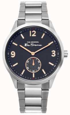 Ben Sherman | montre en acier inoxydable pour hommes | cadran bleu | BS020SM