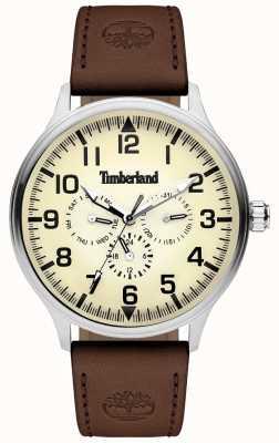 Timberland | homme blanchard | bracelet en cuir marron | cadran crème | 15270JS/14
