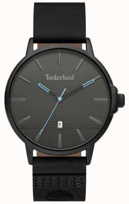 Timberland | hommes rollinsford | bracelet en cuir noir | cadran noir | 15637JYB/13