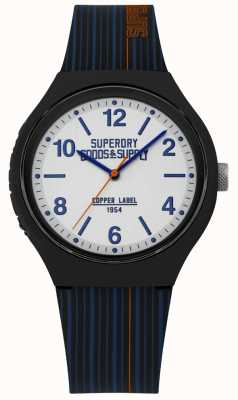 Superdry | bracelet en silicone marine | cadran argenté | SYG252U