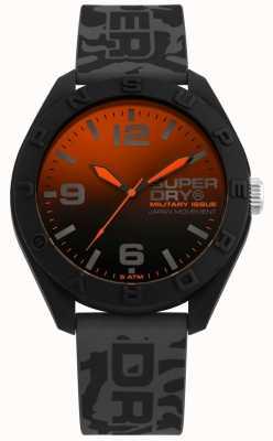 Superdry | osaka | bracelet en silicone gris camo | cadran noirorange | SYG242E