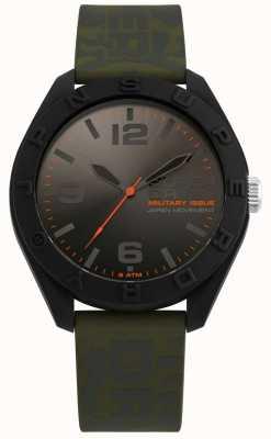 Superdry | osaka | bracelet en silicone camo kaki | cadran noir / gris | SYG242N