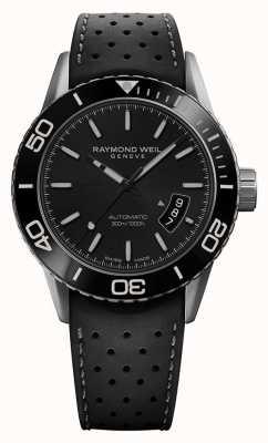 Raymond Weil   pigiste homme   bracelet en caoutchouc grisblack   2760-TR1-20001