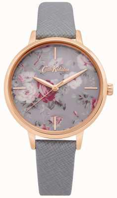 Cath Kidston | montre femme brampton bunch | bracelet en cuir gris | CKL069ERG