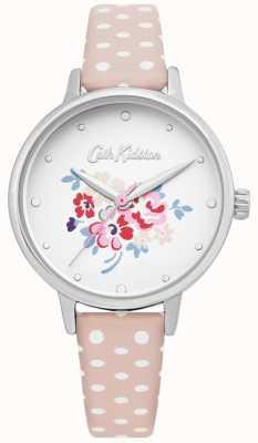 Cath Kidston | montre de groupe chanceux pour femmes | cuir rose à pois | CKL070P