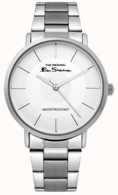 Ben Sherman | montre de script mens | bracelet en acier inoxydable | cadran blanc BS014SM