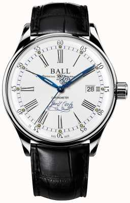 Ball Watch Company Trainmaster effort chronomètre édition limitée en cuir NM3288D-LL2CJ-WH