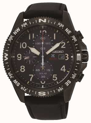 Seiko Bracelet en cuir pour chronographe solaire prospex pour homme SSC707P1