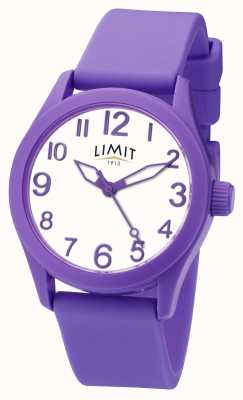 Limit | bracelet en silicone violet | cadran blanc | 5722
