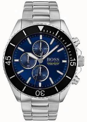 Hugo Boss | mens ocean edition | acier inoxydable argenté | cadran bleu | 1513704