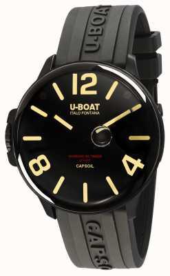 U-Boat Capsoil dlc electromechanics bracelet en caoutchouc noir 8108/A