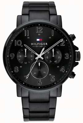 Tommy Hilfiger Daniel | bracelet en acier ip noir | cadran noir 1710383