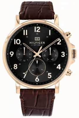 Tommy Hilfiger | montre homme daniel en cuir marron | 1710379