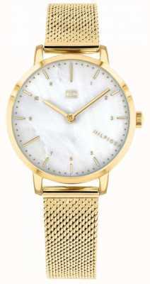 Tommy Hilfiger montre de lys en maille d'or pour femme | 1782043