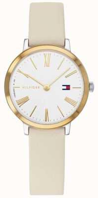 Tommy Hilfiger Projet z | bracelet en cuir beige | cadran blanc 1782051