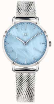 Tommy Hilfiger | montre de lys pour femme | maille d'acier inoxydable | cadran bleu | 1782041