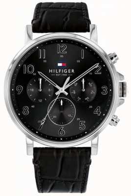 Tommy Hilfiger | montre homme daniel en cuir noir | 1710381