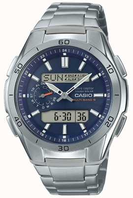 Casio | mens radio contrôlée | montre chronographe en titane | WVA-M650TD-2A2ER