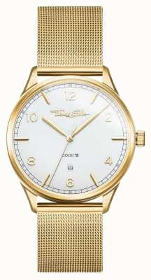 Thomas Sabo | bracelet en acier inoxydable avec mailles en or | cadran blanc | WA0340-264-202-40