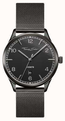 Thomas Sabo | bracelet en acier inoxydable noir | cadran noir | WA0342-202-203-40