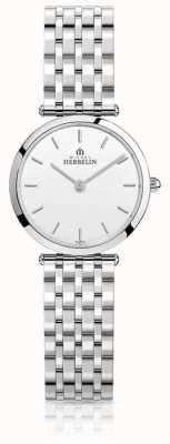 Michel Herbelin Bracelet pour femme en acier inoxydable epsilon avec cadran blanc 17116/B11
