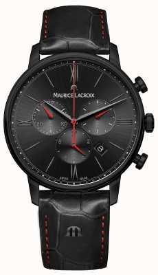 Maurice Lacroix Eliros bracelet en cuir noir plaqué pvd noir EL1098-PVB01-310-1