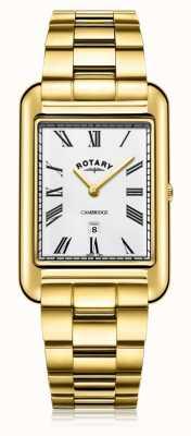 Rotary | bracelet plaqué or messieurs | cadran blanc | GB05283/01