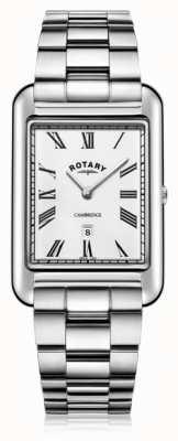 Rotary | bracelet en acier inoxydable pour hommes | cadran blanc | GB05280/01