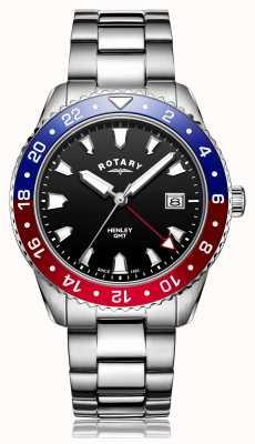 Rotary | bracelet en acier inoxydable hommes | cadran noir | GB05108/30