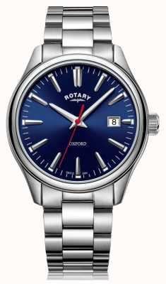 Rotary | bracelet en acier inoxydable pour hommes | cadran bleu | GB05092/53