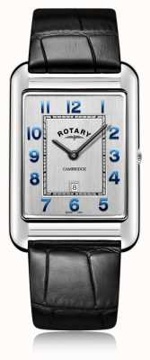 Rotary | bracelet en cuir noir date | GS05280/70